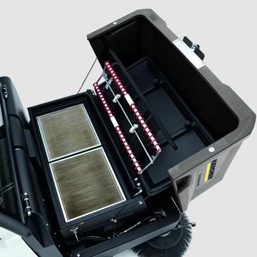 Подметально-всасывающая машина KM 130/300 LPG: Эффективный фильтр с длительным сроком службы