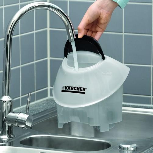 Пароочиститель SC 5 Premium: Перезаполняемый съемный бак для воды