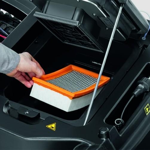 Подметально-всасывающая машина KM 90/60 R Bp Adv: Система непрерывной автоматической очистки фильтра Tact.
