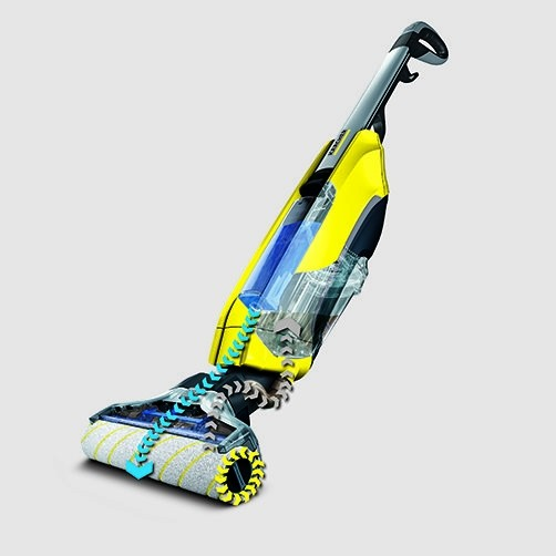 Моющий пылесос FC 5: Автоматическая очистка роликовых падов от грязи