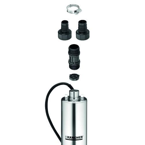 скважинный насос BP 4 Deep Well: Включает насос, коннекторы и обратный клапан
