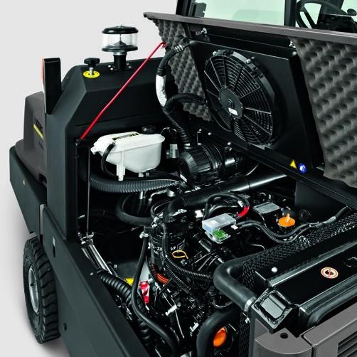 Подметально-всасывающая машина KM 150/500 D 4W: Образцовое удобство обслуживания