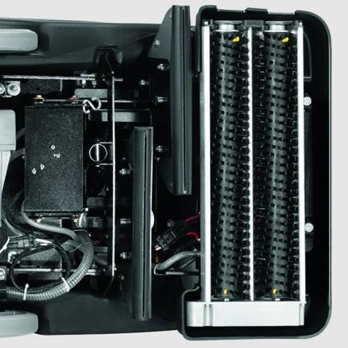 Аппарат для чистки ковров BRC 50/70 W Bp: Плавающая щеточная головка с роликовыми щетками противоположного вращения