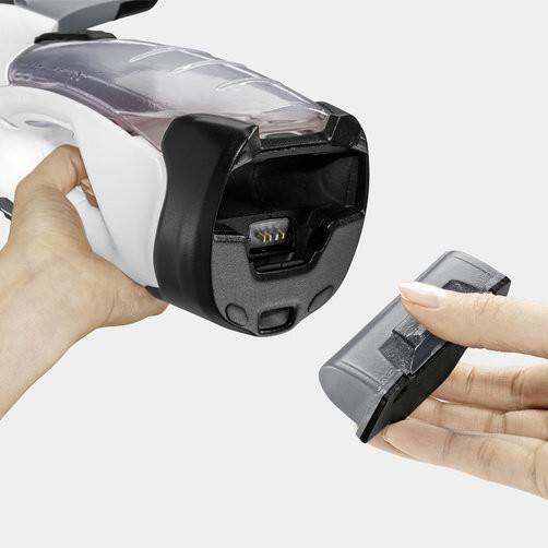 Стеклоочиститель WV 5 Premium Plus (white): Съемный аккумулятор