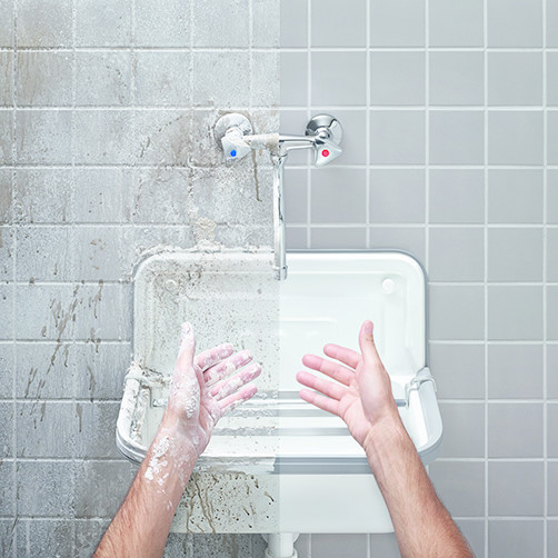 HG 43: Увеличение производительности чистки благодаря горячей воде