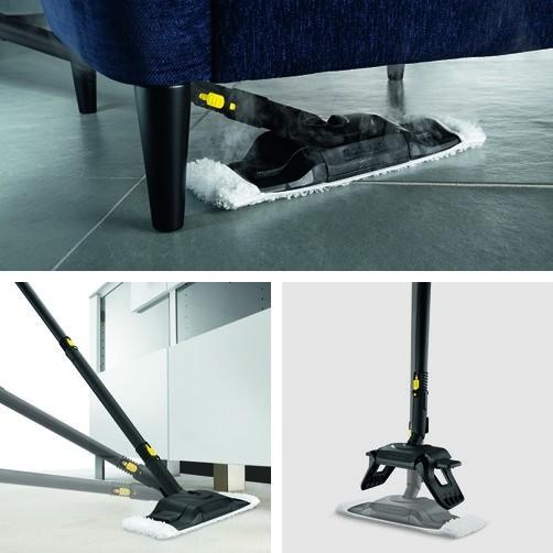 Пароочиститель SC 5 + Утюг: Насадка для уборки пола Comfort Plus с гибким подсоединением и инновационной технологией смены салфетки