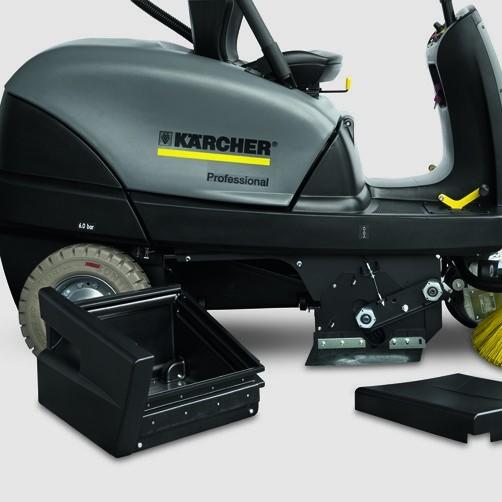 Подметально-всасывающая машина KM 100/100 R P: Простота обслуживания