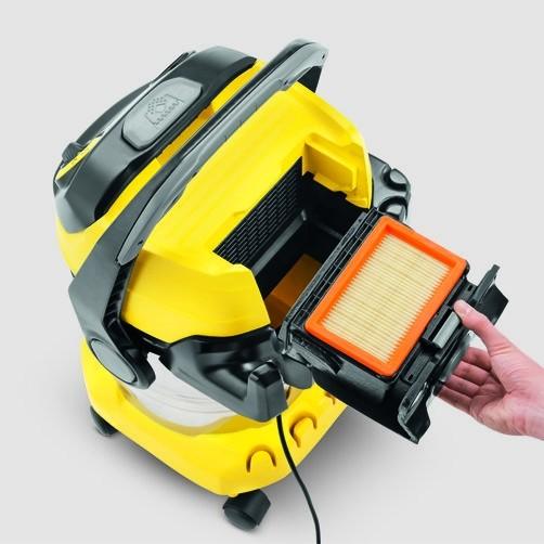 Хозяйственный пылесос WD 5 Premium: Запатентованная технология замены фильтра