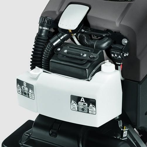 Аппарат для чистки ковров BRC 50/70 W Bp: Система дозирования с 2 баками