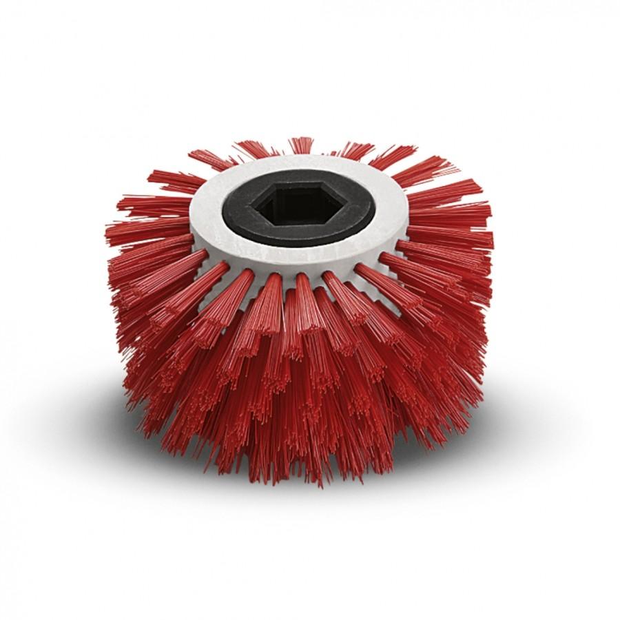 Щетка для чистки углов, средний, красный, 170 mm
