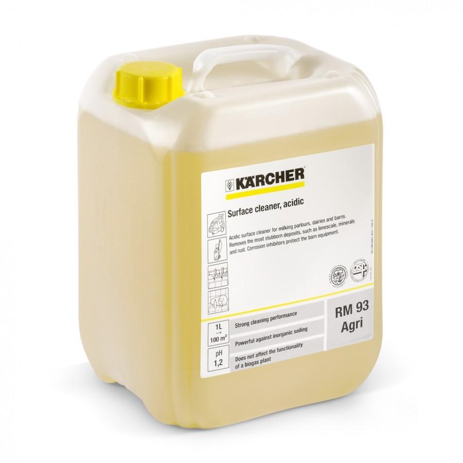 Кислотное средство для чистки поверхностей RM 93 Agri