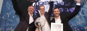 На выставке ISSA Interclean в Амстердаме новая поломоечная машина-робот Kärcher KIRA B50 заняла первое место в номинации «Инновации»