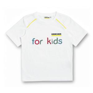Белая детская футболка, размер 116/122