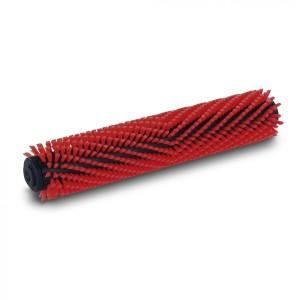 Щетка цилиндрическая, средней жесткости, средний, красный, 300 mm