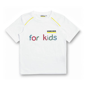 Белая детская футболка, размер 128/134