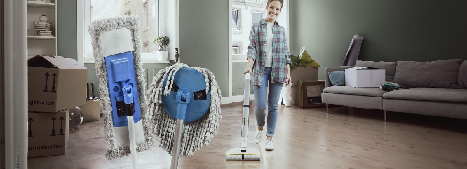 Новый аккумуляторный аппарат для влажной уборки пола от Kärcher Швабра 21 века